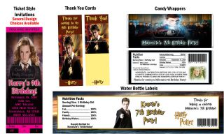 Harry Potter Wizard Movie ~ Birthday Party Ticket Invitations