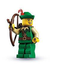LEGO Series 1 THE FORESTMAN Minifigure #14 8683 Archer Robin Hood