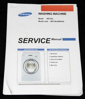 Samsung WF316L Washing Machine Service Manual