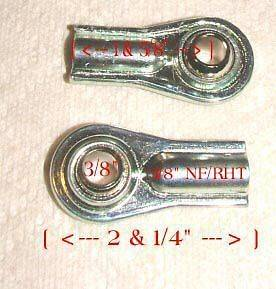 GO CART & Lawn/Garden Tractor Universal Tie Rod Ends