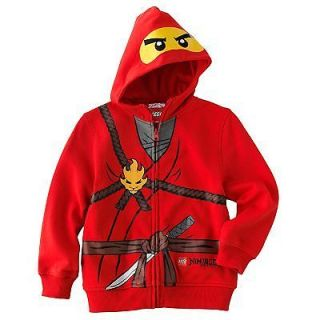 NEW with tag LEGO NINJAGO CHARACTER COSTUME LOGO HOOD SWEATSHIRT 5 6