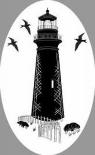 LIGHTHOUSE static cling etched glass window decal