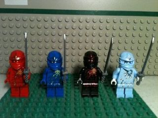Newly listed Lego Ninjago Mini Figures NRG Zane, Kai, Cole, Jay