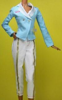 Pilot Flight Attendant Suit Airplane Outfit Model Muse Barbie