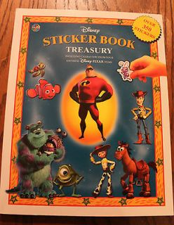 Disney Sticker Book Treasury Toy Story The Incredibles Finding Nemo