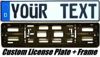 MERCEDES PORSCHE   CUSTOM GERMAN EURO License PLATE + Frame   works on