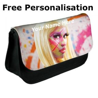 Personalised Nicky Minaj Pencil Case Make Up Bag   Black