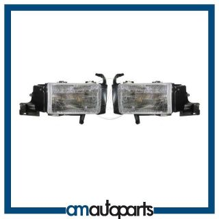 Ram Pickup Truck Headlamps Headlights Left LH & Right RH Pair Set