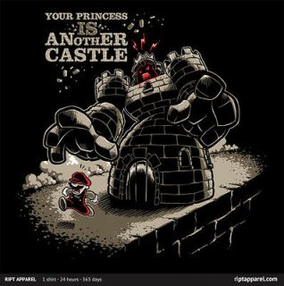 SUPER MARIO BROS Your Princess IS Another Castle!! T Shirt RIPT Tee