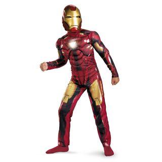 Kids Child Iron Man 2 Mark 6 VI Light Up Deluxe Costume