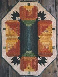 Log Cabin Pumpkins Halloween Table Runner Quilt Pattern
