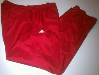 ADIDAS MENS RED SC STDM CLIMAPROOF STORM TRAINING TRACK PANTS SIZE XL