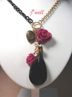 red rose necklace in Necklaces & Pendants