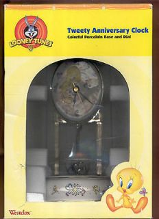 Anniversary Clock Porcelain Base and Dial Westclox 2000 D Looney Tunes