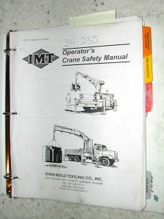 37/266 CRANE PARTS SERVICE OPERATION MANUAL CATALOG MAINTENANCE BOOK