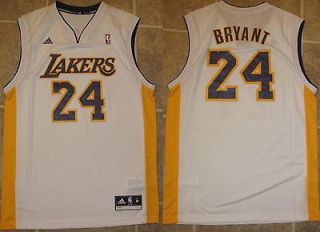 REVOLUTION 30 LOS ANGELES LAKERS KOBE BRYANT WHITE JERSEY SZ MEDIUM