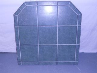 CLASSIC GREEN TILE CORN PELLET STOVE BOARD 41 LONG x 41 WIDE 1 1/4