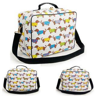 Cute Dachshund Travel Cube Tote Cross Shoulder Handbag Bags Luggage