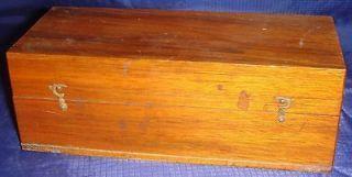 ML227 Vtg Wood Wooden Box Brass Hardware