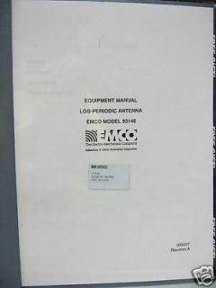 EMCO 93146 Log Periodic Antenna Part # 399207 Rev. A Equipment Manual