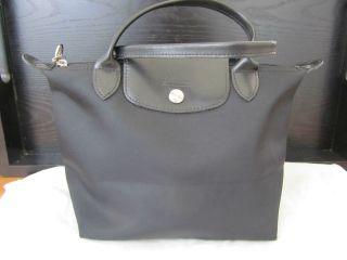 Authentic Black Planetes Longchamp Pilage mini tote bag purse