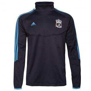 2012 New Adidas Liverpool LFC Black/Blue Euro Tracksuit Top/Sweater S