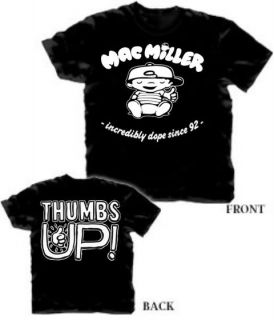 Mac Miller Thumbs Up Shirt Knock Knock Rap Hip Hop Front & Back