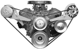 Big Block Chevy 50   60s Low Profile Steel A/C Compressor & Alternator