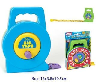 My Big Tape Measure Preschool Toy Childs Kids Educational Pretend