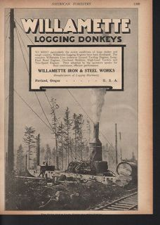 LOGGING FORESTRY EQUIPMENT LUMBER STEAM POWER DONKEY ENGINE A