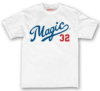 theSTASH Team Magic Dodgers Tee Shirt White Los Angeles Johnson Kemp