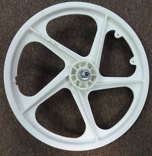 White Mag Wheel Front 20 inch for Old School BMX Bike 3/8 inch Axles