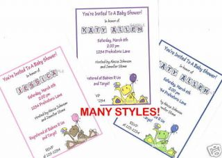 20 Custom Baby Shower Invitations/Di​nosaur/MANY STYLES