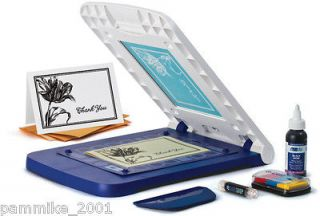 CRICUT YUDU PERSONAL CARD SHOP SCREEN PRINTING MACHINE SET KIT NEW