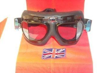 Leather Goggles Cafe Racer Bobber Triton Norton Suzuki Kawasaki