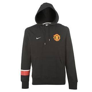 Manchester United   Nike Core Hoody   Mens Hooded Top   Black   NEW