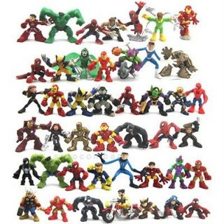 Lot 45 Marvel Super Hero Squad Figure Hulk MR FANTASTIC VENOM Goblin