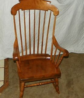 ... Maple Boston Rocker / Rocking Chair by S. Bent u0026 Bros (R84) ... & Vintage Colonial Maple Bent Brothers Dining Chairs 4