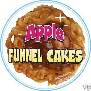 Funnel Cakes Apple Concession Trailer Cart Food Truck Menu Vinyl Decal