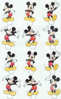 12 MICKEY MOUSE EDIBLE CUPCAKE/FAIRY CAKE TOPPERS **STAND UPS**