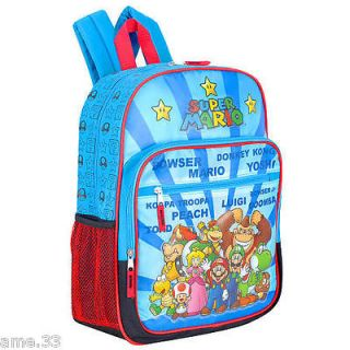 NWT Nintendo SUPER MARIO Bros BACKPACK Tote Bag TOAD BOWSER YOSHI Full