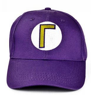 NEW Super Mario Bros Anime Cosplay Kids Hat Waluigi Cap