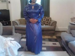 Elegant Hand Made Dress Wedding Abaya Jilbab Full Length Periwinkle