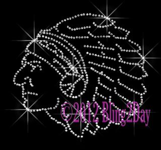 Iron on Rhinestone Transfer Hot Fix Bling School Mascot Mom Warrior