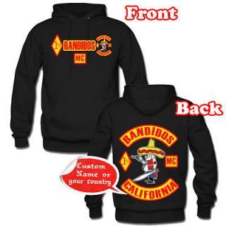 HOODIE BANDIDOS MC MOTORCYCLE CLUB SIZE S 2XL SAME PRICE MEN BLACK