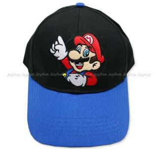 Surper Mario Bros. Mario and Luigi Boys Youth Baseball Cap Hat w/Red