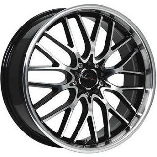17x7.5 Machined Black Wheel Drifz Vortex 4x100 4x4.5