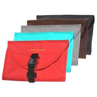 Light Red Blue Brown Safe Toiletries Case Punch Travel Bag Organizer