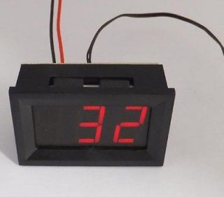 Digital LED Thermometer Temperature Meter  30℃~70℃ W DC INPUT