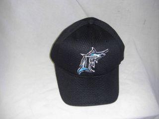 OUTDOOR CAP MLB 375 MARLINS FLEX MESH BASEBALL CAP BLACK